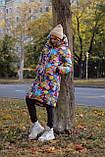 Куртка женская зимняя длинная тёплая с капюшоном, фото 10