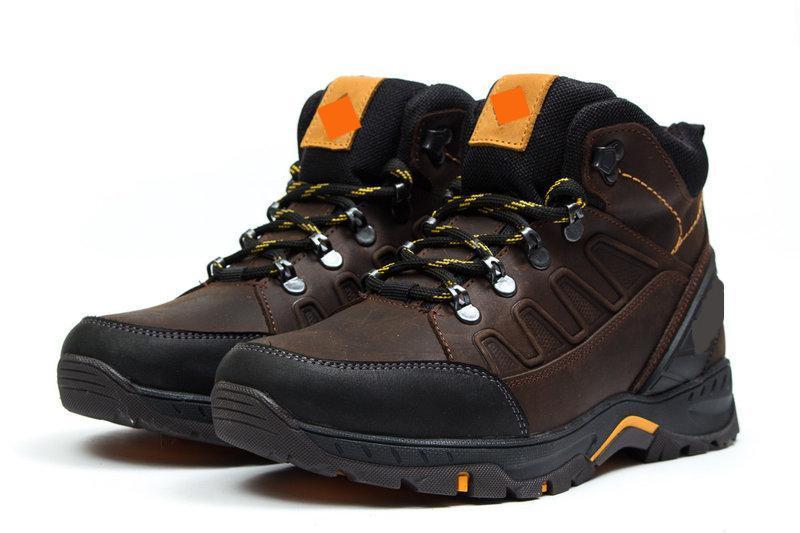 Чоловічі зимові шкіряні черевики Chocolate р. 40 42 43