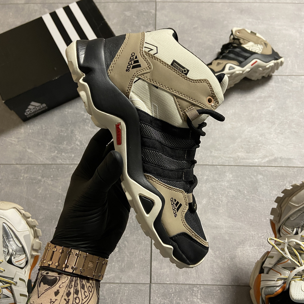 Adidas Terrex AX3 Beige/Black (Бежевый)