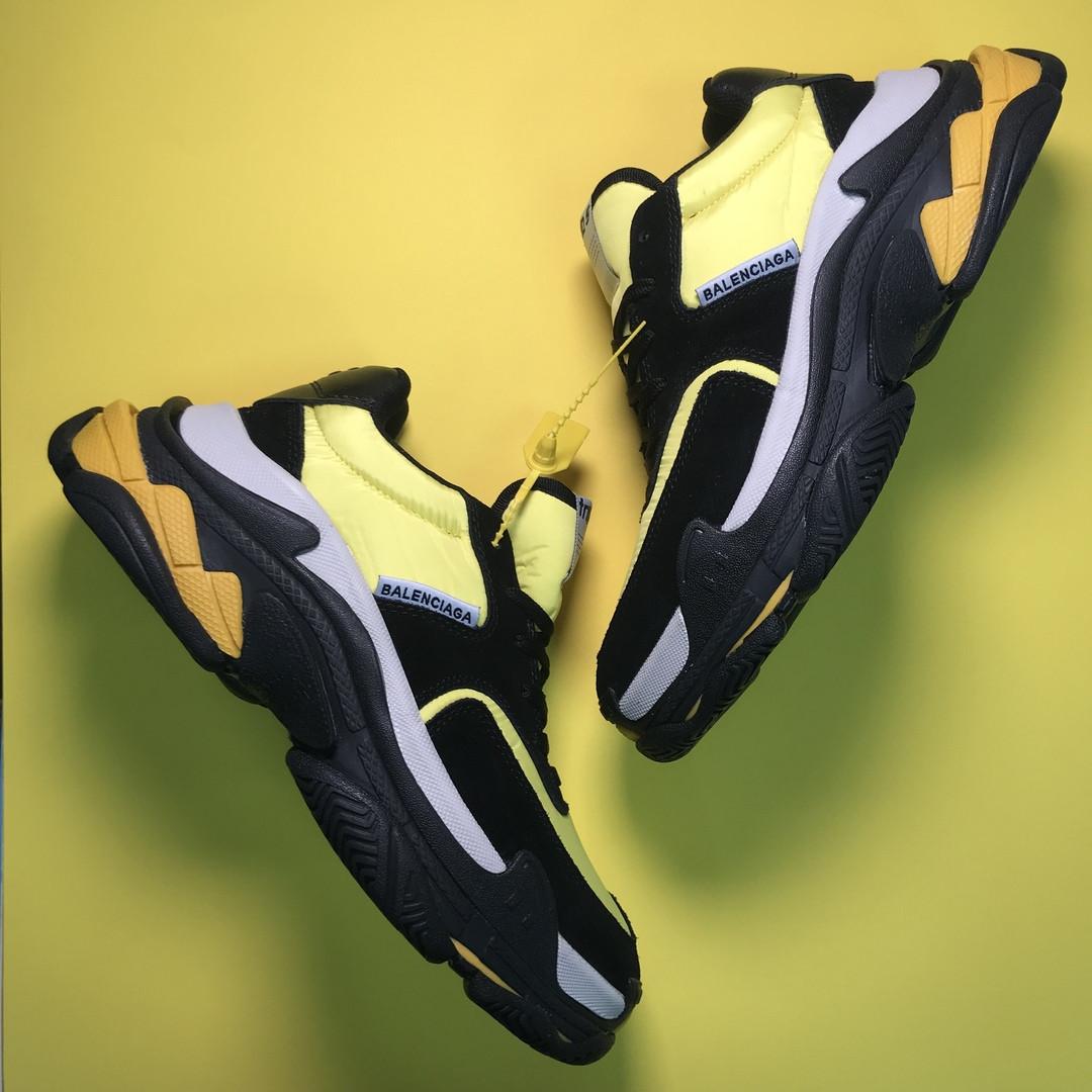 Balenciaga Triple S V2 Black Yellow (Желтый)