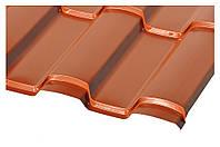 Металлочерепица Техно, RAL 8004 Цвет медно-коричневый, терракотовый (глянец).