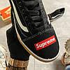 Vans Old Skool Black/White SUPREME (Черный), фото 9