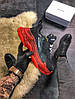 Balenciaga Triple S Clear Sole Black Red (Черный), фото 2