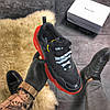 Balenciaga Triple S Clear Sole Black Red (Черный), фото 3