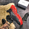 Balenciaga Triple S Clear Sole Black Red (Черный), фото 4