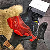 Balenciaga Triple S Clear Sole Black Red (Черный), фото 7