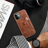 "Nillkin Apple iPhone 12 Mini (5.4"") Aoge Leather Case Brown Кожаный Чехол Бампер, фото 5"