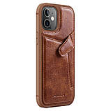 "Nillkin Apple iPhone 12 Mini (5.4"") Aoge Leather Case Brown Кожаный Чехол Бампер, фото 3"
