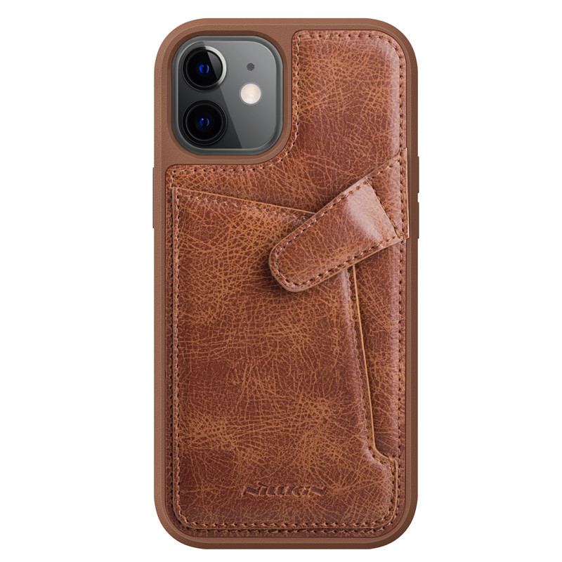 "Nillkin Apple iPhone 12 Mini (5.4"") Aoge Leather Case Brown Кожаный Чехол Бампер"
