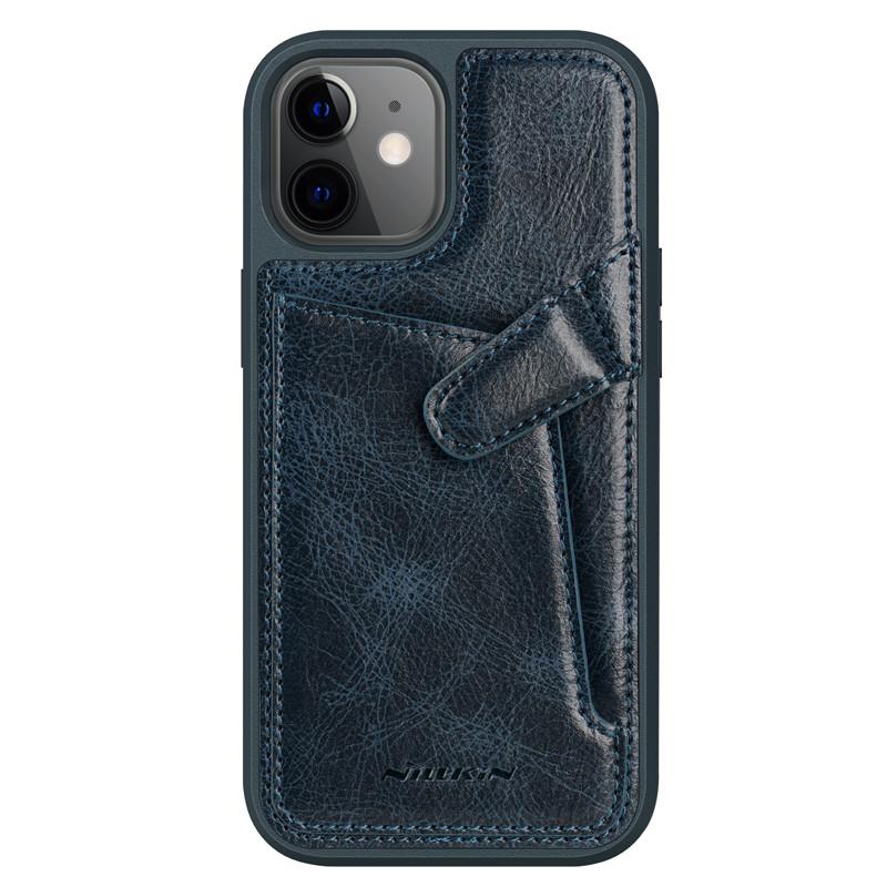 "Nillkin Apple iPhone 12 Mini (5.4"") Aoge Leather Case Blue Кожаный Чехол Бампер"