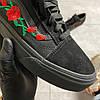 Vans Old Skool Black ART Rose (Черный), фото 5