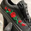 Vans Old Skool Black ART Rose (Черный), фото 6