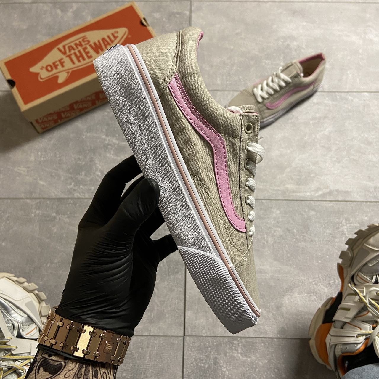 Vans Old Skool Gray and Pink (Серый)