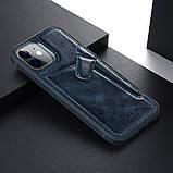 "Nillkin Apple iPhone 12 Mini (5.4"") Aoge Leather Case Blue Кожаный Чехол Бампер, фото 5"