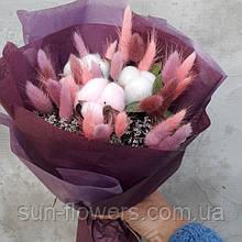 Букет из сухоцветов(розовый)