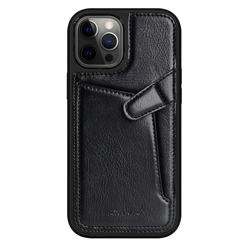 "Nillkin Apple iPhone 12 Pro Max (6.7"") Aoge Leather Case Black Кожаный Чехол Бампер"