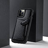 "Nillkin Apple iPhone 12 Pro Max (6.7"") Aoge Leather Case Black Кожаный Чехол Бампер, фото 4"