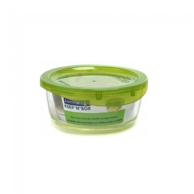 Емкость стеклянная Luminarc Keep`n`box 420мл с пластиковой зеленой крышкой