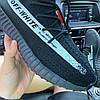 Adidas Yeezy 350 Black x OFF WHITE (Черный), фото 6