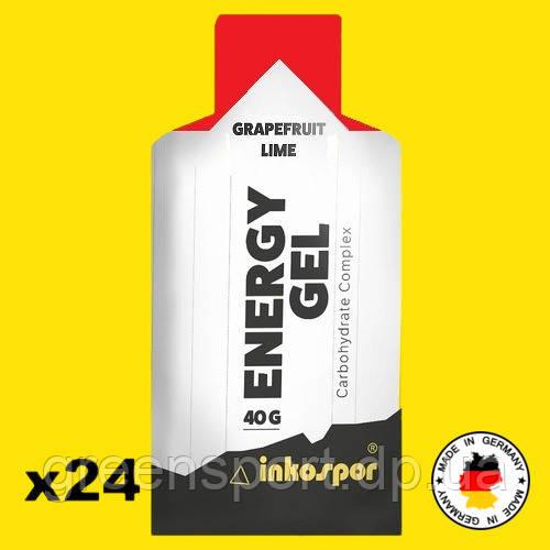 Энергетические гели без кофеина Inkospor Energy Gel 24 пакетика Грейпфрут-лайм