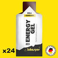 Энергетические гели с гуараной Inkospor Energy Gel 24 пакетика Кола