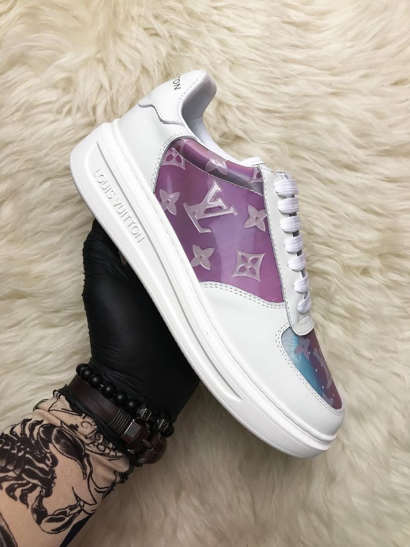 Louis Vuitton Sneakers Pink White (Белый Фиолетовый)
