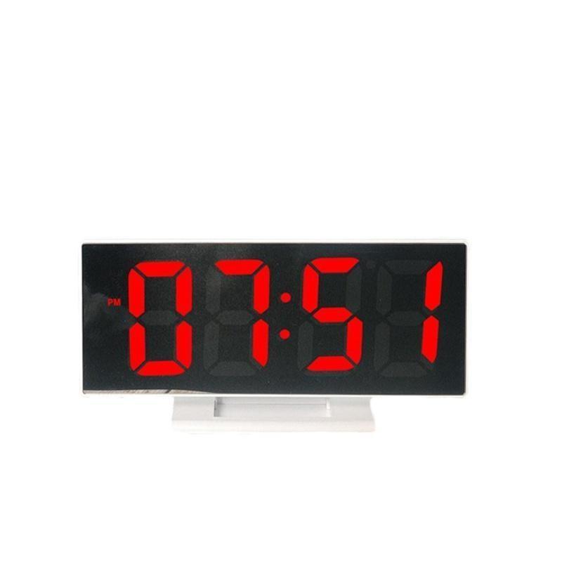 Настольные зеркальные часы UKC DS-3618L с подсветкой White