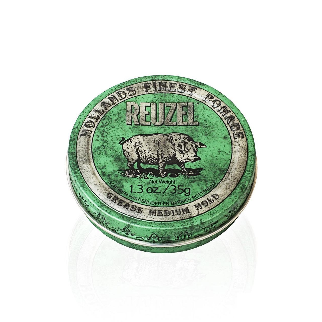 Помада для волос Reuzel Green Medium Hold Grease 35г