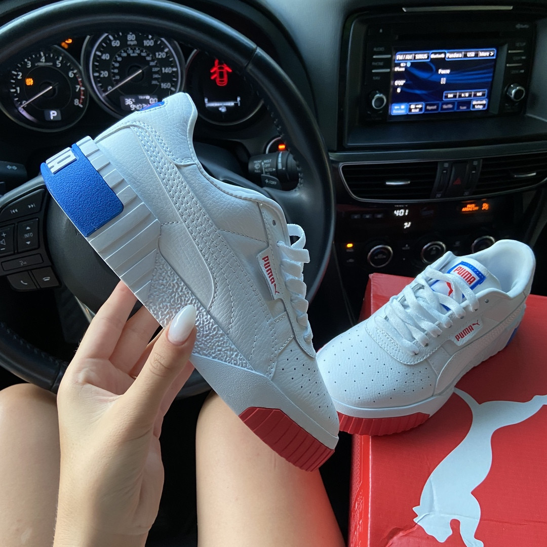 Puma Cali White and Blue/Red (Белый)