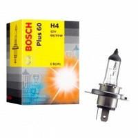 Лампа фарная А 12-60+55 ВАЗ H4 plus 50 ближний, дальний свет (Bosch)