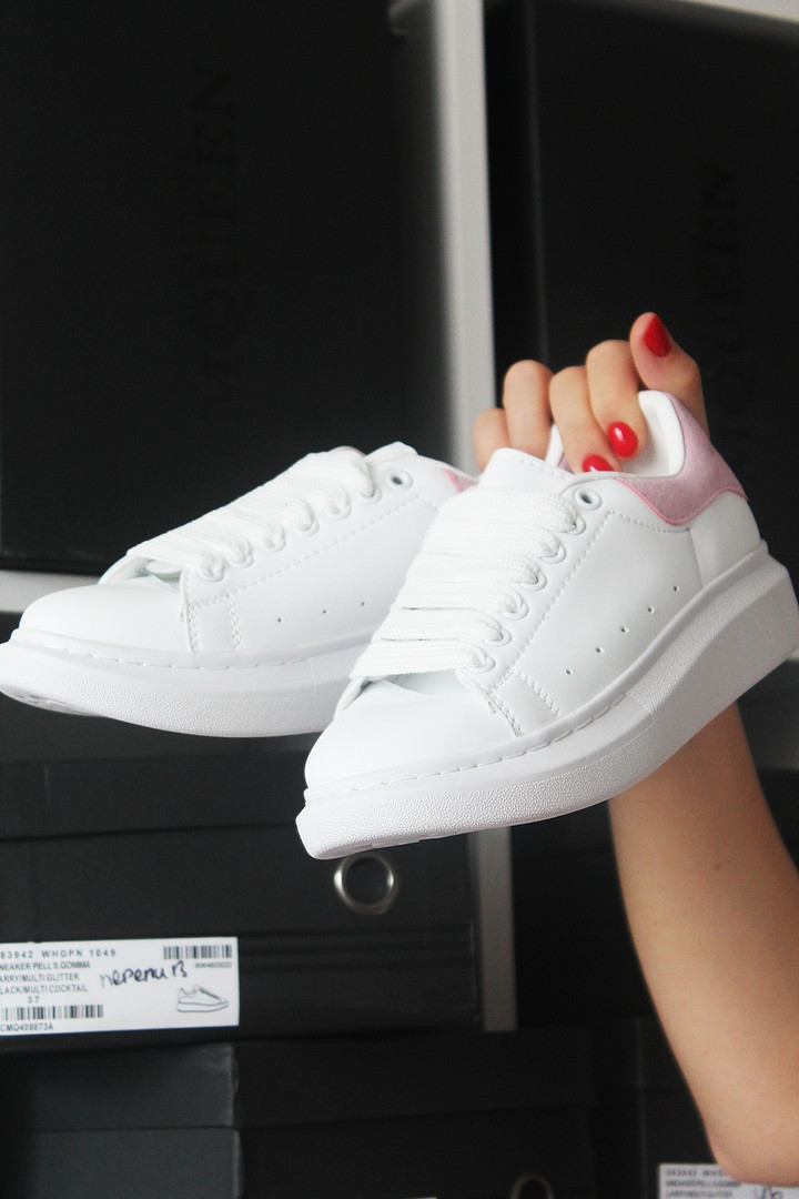 Alexander McQueen White Pink (Белый Розовый)