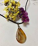 Подвеска ( кулон ) из янтаря у форме  капли, фото 2