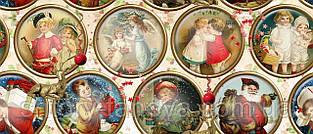 Новогодняя декоративная ткань виньетки Испания хлопок
