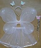 Карнавальный набор ( 4 предмета) для девочки Бабочка - фея - белая, фото 2