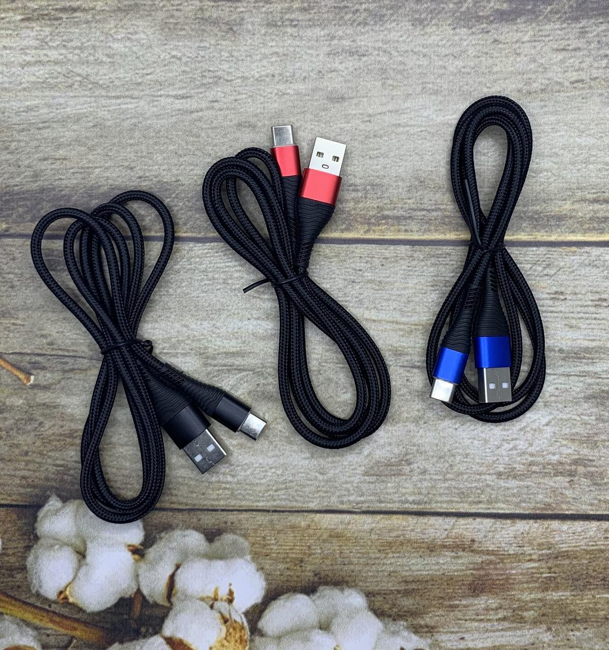 Зарядный кабель USB Type C 1м для Samsung Xiaomi Redmi Oppo Realme Huawei Honor