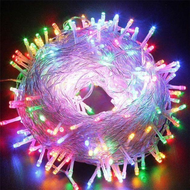 Светодиодная LED гирлянда M-1 мультицветная, 100 лампочек