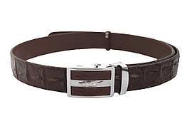Ремінь зі шкіри крокодила Ekzotic Leather Темно - коричневий (crb08)