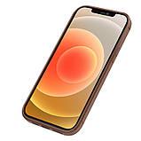 "Nillkin Apple iPhone 12/12 Pro (6.1"") Aoge Leather Case Brown Кожаный Чехол Бампер, фото 2"