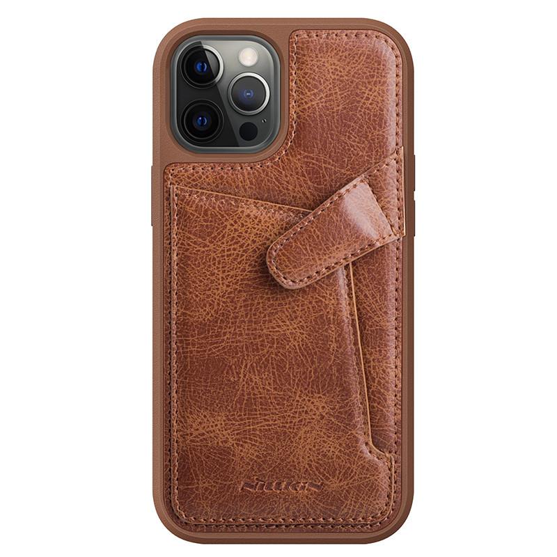 "Nillkin Apple iPhone 12/12 Pro (6.1"") Aoge Leather Case Brown Кожаный Чехол Бампер"