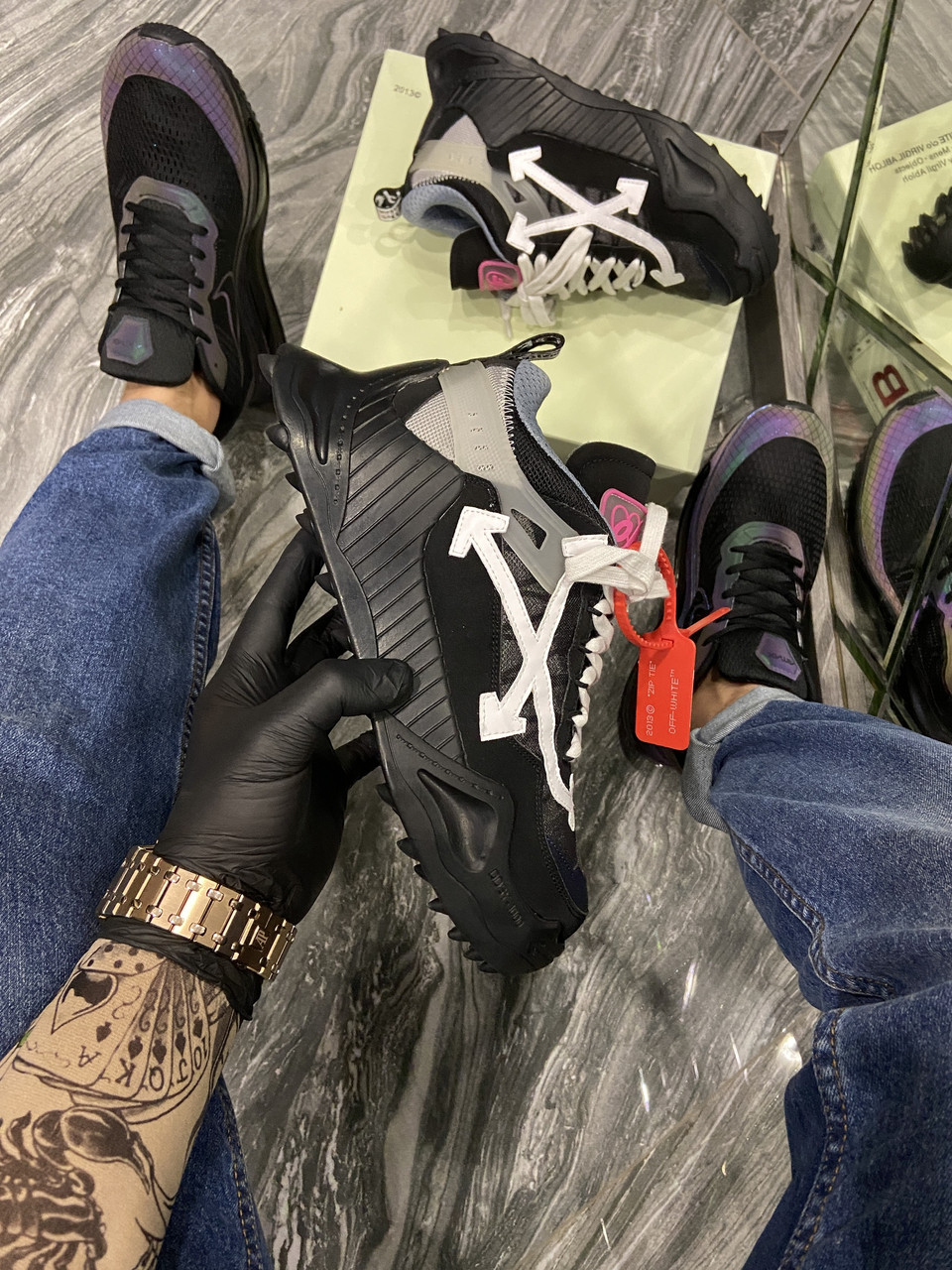 OFF-White ODSY - 1000 Black. (Чёрный)