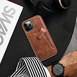"Nillkin Apple iPhone 12/12 Pro (6.1"") Aoge Leather Case Brown Кожаный Чехол Бампер, фото 4"