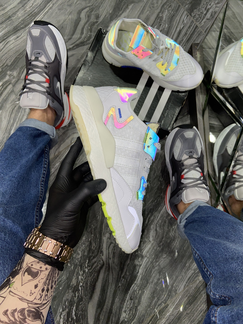 Adidas Nite Jogger White Reflective (Белый)
