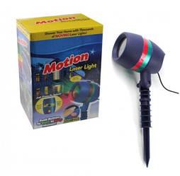 Лазерный проектор Star Shower Motion Laser Light (для дома и улицы) Blue