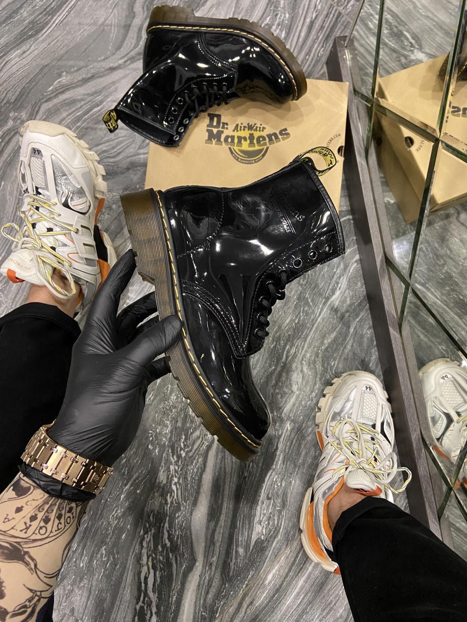Dr Martens 1460 Black Gloss (Деми) (Чёрный)