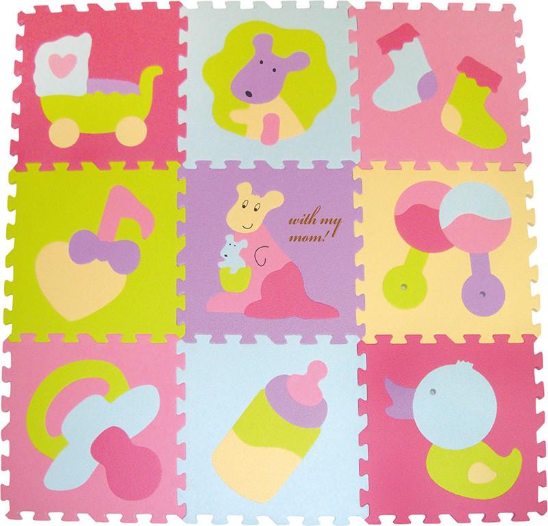"""Детский развивающий игровой коврик-пазл Baby Great """"Маленький кенгуренок"""", 92х92 см"""
