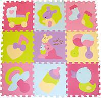 """Детский развивающий игровой коврик-пазл Baby Great """"Маленький кенгуренок"""", 92х92 см, фото 1"""