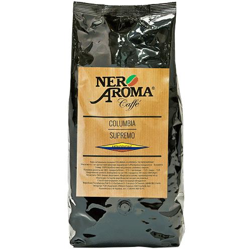 Кофе зерновой Колумбия  Nero Aroma Columbia Supremo 1 кг (арабика)