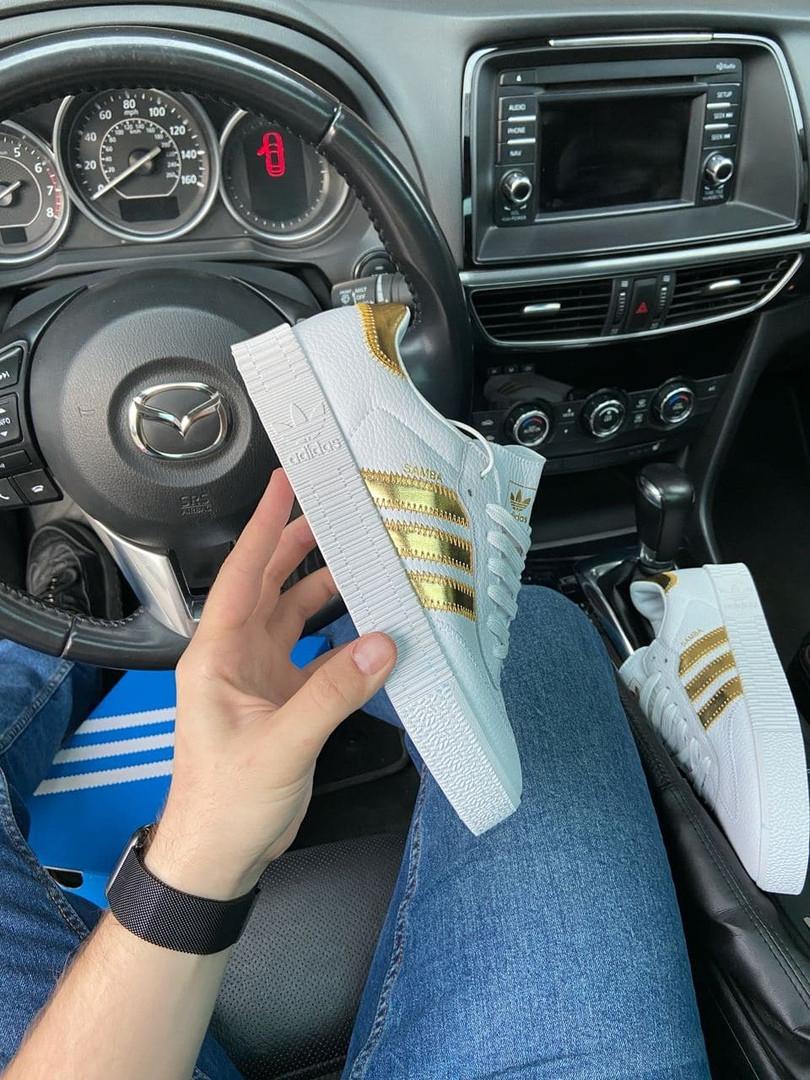 Adidas Samba White Gold (Белый Золотой)