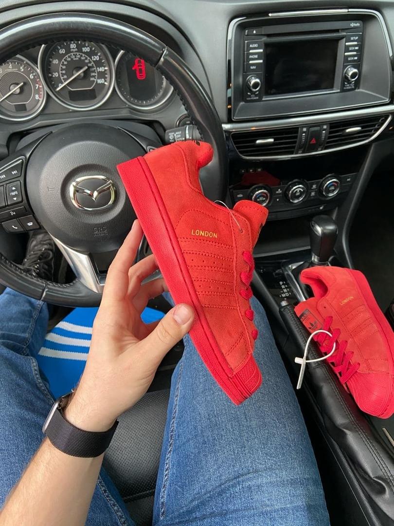 Adidas Superstar London Full Red (Красный)