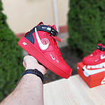 Жіночі зимові кросівки Nike Air Force 1 Mid LV8 (червоні) 3655, фото 2